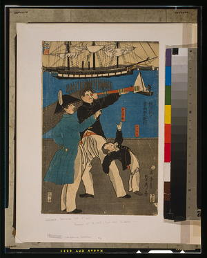 Utagawa Sadahide: Russians enjoying themselves on Sunday in Yokohama. - Library of Congress