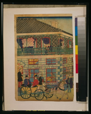 Utagawa Hiroshige: Foreign business district in Yokohama. - Library of Congress