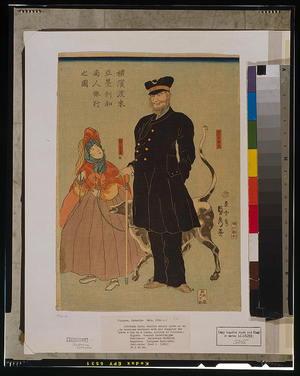 Utagawa Sadahide: American merchant strolling in Yokohama. - Library of Congress