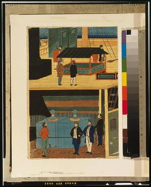 歌川芳員: Interior of an American steamship. - アメリカ議会図書館