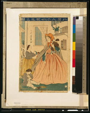 Utagawa Yoshikazu: Picture of foreigners' love for children. - Library of Congress