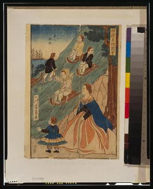 Utagawa Yoshikazu: Foreign children sledding. - Library of Congress