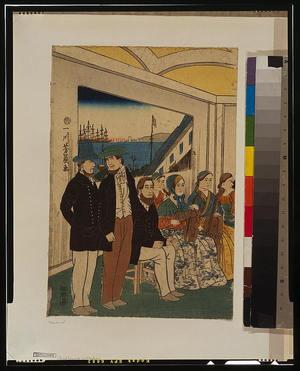Utagawa Yoshikazu: Foreigners enjoying themselves. - Library of Congress