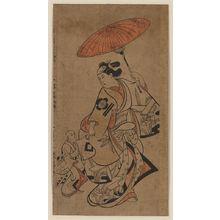 鳥居清信: Onnagata Matsumoto Hyōzo. - アメリカ議会図書館