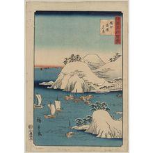 Utagawa Hiroshige: New view of Banshū Morotsu. - Library of Congress