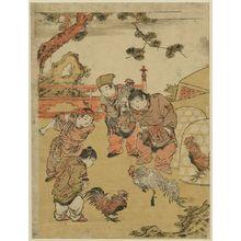 Kitao Shigemasa: Chinese children fighting cocks. - Library of Congress