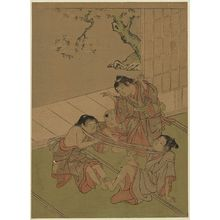 Kitao Shigemasa: Neck tug of war. - Library of Congress