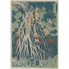葛飾北斎: Kirifuri Falls at Mount Kurokami in Shimosuke. - アメリカ議会図書館