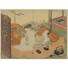 Suzuki Harunobu: Courtesan and her guest in bed. - Library of Congress