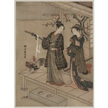 Suzuki Harunobu: Young dandy and a beauty on a veranda. - Library of Congress
