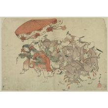 柳々居辰斎: Sumiyoshi festival dance. - アメリカ議会図書館