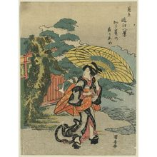 Utagawa Kuniyasu: Evening rain at Karasaki. - Library of Congress