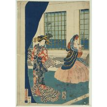Utagawa Sadahide: Courtesans in a western-style building of Yokohama. - Library of Congress