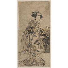 勝川春好: The onnagata Onoe Tamizō. - アメリカ議会図書館