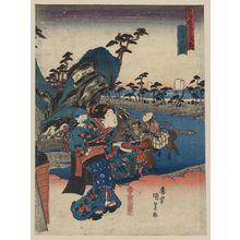 歌川豊国: View of Okitsu. - アメリカ議会図書館