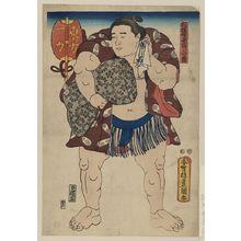 Utagawa Toyokuni I: The wrestler Ichiriki of the East Side. - Library of Congress