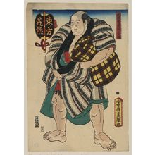 Utagawa Toyokuni I: The wrestler Arakuma of the East Side. - Library of Congress