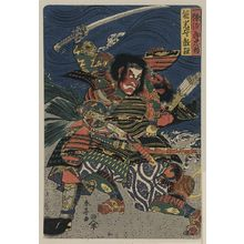 勝川春亭: The samurai warriors Ichijō Jirō Tadanori and Notonokami Noritsune. - アメリカ議会図書館