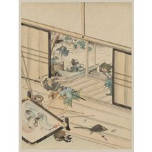 無款: [Jūichidanme - act eleven of the Chūshingura - assualt on Kira Yoshinaka's home - pursuing the guards] - アメリカ議会図書館