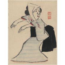 紀楳亭: [Caricature of a woman dancing] - アメリカ議会図書館