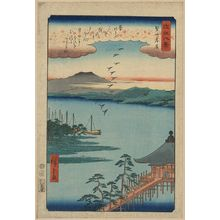 Utagawa Hiroshige: Descending geese at Katada. - Library of Congress