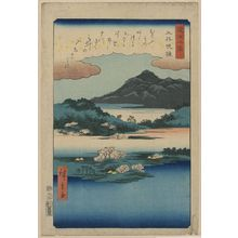 Utagawa Hiroshige: Temple bell at Mii. - Library of Congress
