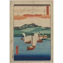 Utagawa Hiroshige: Returning sails at Yabase. - Library of Congress