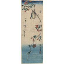 Utagawa Hiroshige: Small bird on a branch of Kaidōzakura. - Library of Congress