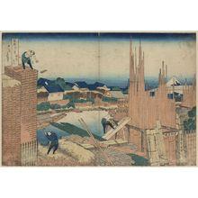 葛飾北斎: Takekawa in Edo. - アメリカ議会図書館