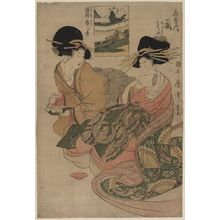 Kitagawa Utamaro: The courtesan Tsukasa of Ōgiya. - Library of Congress