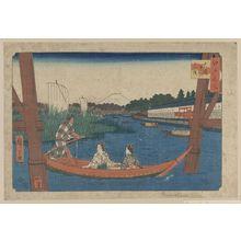 Utagawa Hiroshige: Island bridge in Mitsumata. - Library of Congress
