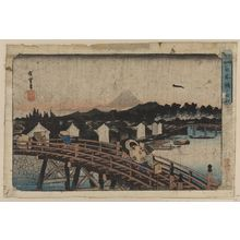 Utagawa Hiroshige: Rain over Nihonbashi. - Library of Congress