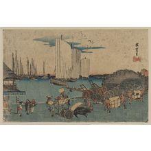 Utagawa Hiroshige: Ōkido at Takanawa. - Library of Congress
