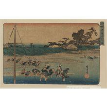 Utagawa Hiroshige: Salt gathering at Suzaki. - Library of Congress