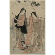 Torii Kiyonaga: Salt maidens. - Library of Congress