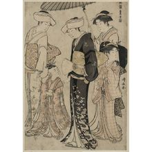 Torii Kiyonaga: Himegimi out for a walk. - Library of Congress