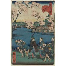 歌川広景: Shinobazu pond. - アメリカ議会図書館