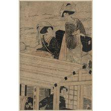 Kitagawa Hidemaro: Enjoying a river cruise in winter. - Library of Congress