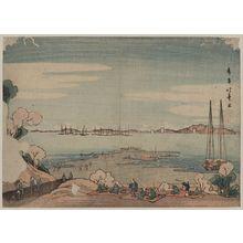 Shotei Hokuju: Perspective view of Mount Dōkan from Shinagawa. - Library of Congress