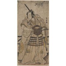 Katsukawa Shunjō: The actor Onoe Matsusuke in the role of Raikō Shitennō (Minamoto Yorimitsu). - Library of Congress