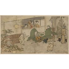 Kitagawa Utamaro: Lion dance of a Daikagura performance. - Library of Congress