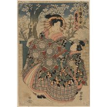 Utagawa Kuniyasu: The courtesan Kashiku of the house of Tsuru. - Library of Congress