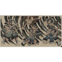 無款: Minamoto Yorimitsu (Raikō Sitennō) and the head of the demon Shutendōji. - アメリカ議会図書館