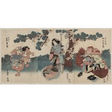 Utagawa Toyokuni I: The actors Matsumoto Kōshirō, Segawa Kikunojō, and Iwai Kumesaburō. - Library of Congress