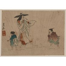 Harada Keigaku: Lady Tokiwa in the snow. - Library of Congress