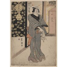 Utagawa Toyokuni I: The actor Bando Mitsugoro in the role of Ukiyo Tohei. - Library of Congress