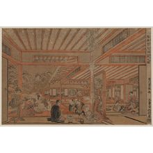 Utagawa Toyoharu: Perspective picture of a drinking party viewing the snow. - Library of Congress