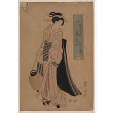 渓斉英泉: Woman carrying a paper lantern. - アメリカ議会図書館
