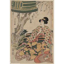 Utagawa Toyokuni I: The actor Ichikawa Dannosuke in the role of Tsunajo. - Library of Congress