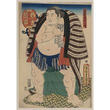 Utagawa Toyokuni I: The sumo wrestler Kagamiiwa of the West Side. - Library of Congress